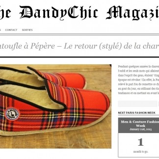 Nos charentaises et the Dandychic Magazine