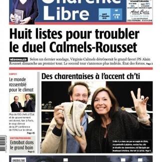 A la une de la Charente Libre