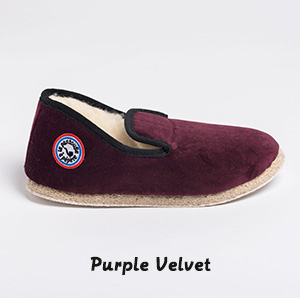 Pantoufle purple velvet