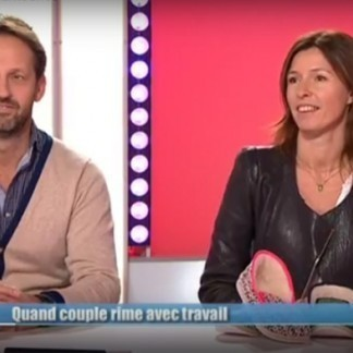 "Invited on France 3 (French national TV Channel) by Christine Defurne for ""9h50 le matin"""